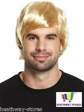 Mens Adult Male Guy Boy Band 60s 70s 80s Short Wig for a Fancy Dress Costume Blond