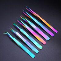 7pcs Professional Eyelash Extension Tweezers Set Stainless Steel Tweezers Kit
