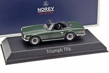 NOREV - 350093 TRIUMPH TR6 1970 ENGLISH GREEN COLOUR 1:43 SCALE.