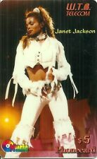 RARE / CARTE TELEPHONIQUE PREPAYEE - JANET JACKSON / PHONECARD LIMITED EDITION