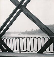 LANGON c. 1960 - La Garonne depuis le Pont Métallique Gironde - Div 5737