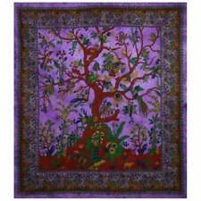 Purple TREE OF LIFE Large Wall Hanging Tapestry Hippie Mandala Bedspread