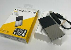 WD My Passport SSD 512GB External USB 3.1 Gen 2 Portable WDBKVX5120PSL