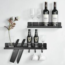 Stainless Steel Bathroom Shelf With 3 Hooks Wall Mounted Shower Room Caddy Rack