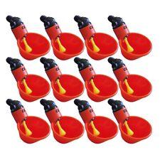 12Pcs Water Nipple Drinker Automatic Water Nipple Feeder for Hen Duck Poultry