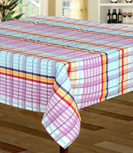 New Stock Seersucker 100% Cotton Tablecloth Various Colours and Sizes