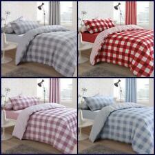 Gingham Duvet Cover Set King Super Size Double Single Check New Bedding Quilt