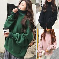 Fashion Women Winter Casual Fake Tops Sweatshirt Long Sleeve Blouse Clothes RF