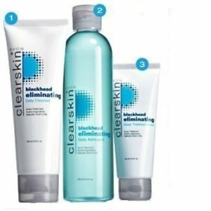 AVON Clearskin Set 3 pcs Blackhead Cleanser, face mask, astringent lotion New