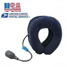 USA Cervical Collar Neck Relief Traction Brace Support Stretcher Inflatable
