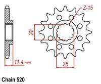 KR Ritzel 16Z Teilung 520 KTM EGS 620 LC4 94-98 New... front sprocket