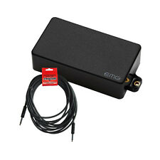 EMG 60 Black Active Guitar Replacement Pickup w/ FREE 18.6 ft Guitar Cable