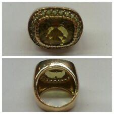 ANNEAU massif 925 Argent Bijoux en bague plaqué or taille 54 (16,8 mm)