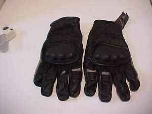 Harley Davidson Black Leather Men's Size Large Gloves