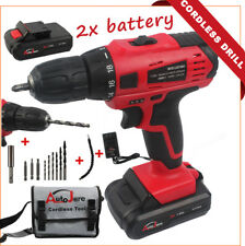 Power Tool - Cordless Drill 18V 20V MAX Drill Set Rechargeable 2x Battery bits