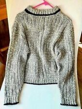 MUNSINGWEAR Men's XL Gray Crew Neck Sweater Wool Blend Very Warm Nice Fashion