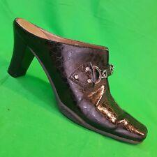 Aerosoles 26156-7 Women's Brown Faux Snake Skin Mule  Sz 8 M Horse bit