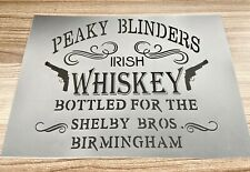 Peaky Blinders Stencil Whiskey Bar Sign Barrel Pub Wall Alcohol Decor Gin