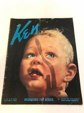 Vintage KEN Magazine July 14, 1938 VOL 2 NO 1  Nazi Comics WW2 Joe Louis RARE
