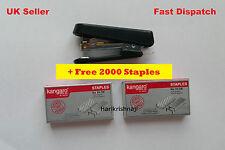 STAPLER MINI 10 WITH STAPLE REMOVER HOOK FREE 2000 STAPLES OFFICE BLACK