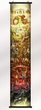 "the legend of zelda 25th anniversary game Fabric scroll  poster 12""x 63"" Print"