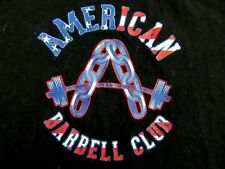 AMERICAN BARBELL CLUB Weightlifting Bodybuilding Black T Shirt Size S