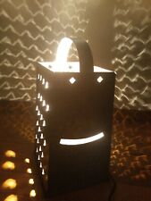 Country Rustic Galvanized Cheese Grate Accent Lamp.