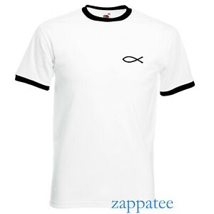 Christian Jesus Fish Ringer T Shirt