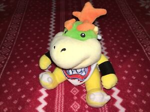 """Official 7"""" Sanei Super Mario BOWSER JR. Plush Nintendo Toy Doll JAPAN 2011 Used"""