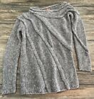 Tory Burch Sweater Wool Gray Slouch High Neck Womens Sz L*