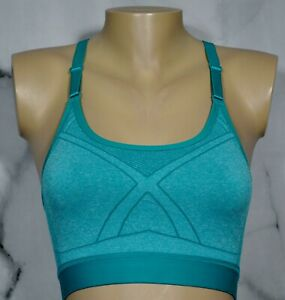 ATHLETIC WORKS Turquoise Green Core Active Seamless Racerback Cami Sports Bra M