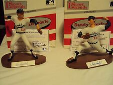 Salvino Koufax/Drysdale Hand-Signed Artist Proof Figurines MIB with COA's