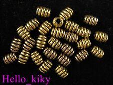 120pcs Antiqued gold plt screw barrel spacer beads A628