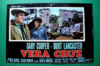T04 Fotobusta Vera Cruz Gary Cooper Burt Lancaster Sarita Montiel CESAR Romero 2