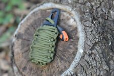 Emergency Survival Pod Kit with 20 Accessories wrapped in 550lb Paracord Surv.