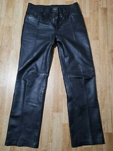 Sexy Lederhose von Gipsy Gr. 33  schwarz lang Biker Motorrad