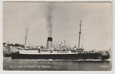 "Guernsey postcard - RMS ""Isle of Thanet"" at Guernsey - RP (A49)"