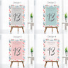 Personalised Wedding Table Numbers - Floral Theme Party Name Cards - A5, A6, A7