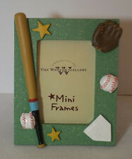 Collectible Ceramic Baseball Themed Small Picture Frame