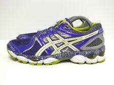 Asics Gel Nimbus 14 LTD Women's Running Shoes Purple/Lime/Charcoal Sz 8.5(US)