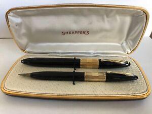 Sheaffer 1250 Lifetime Tuckaway Clipless Fountain Pen&Pencil in Case 14k Nib