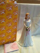 Rare 2012 Enesco Growing Up Birthday Girls Brunette Bride Figurine