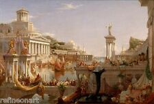 Thomas Cole The Course of Empire Consummation Giclee Canvas Print