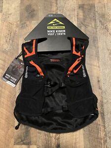 Nike Kiger Trail Running/Hiking Vest Reflective Black Orange Unisex Size:XL New