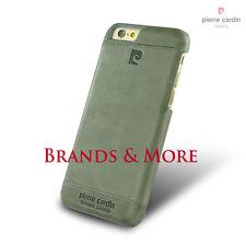 Pierre Cardin Classic Echtleder Schutzhülle Back Cover Snap iPhone 6S, Silber