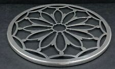 More details for sterling silver and glass teapot stand - coaster - trivet birmingham 1926