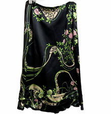 Tracy Reese Women's Size M Back Zip Silk Floral Ruffle A-Line Skirt RN# 81913