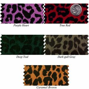 """Animal Cheetah Tiger Faux Doe Suede Fabric Clothes Jacket Skirts Pants Shoe 58""""w"""
