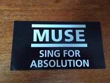 MUSE - Music Band Logo - Promo Sticker Sing for Absolution black white new rare