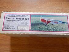 "AEROCRAFT Quality Model Kits ""FARMAN Model 400""     Top Quality Kit!!!"